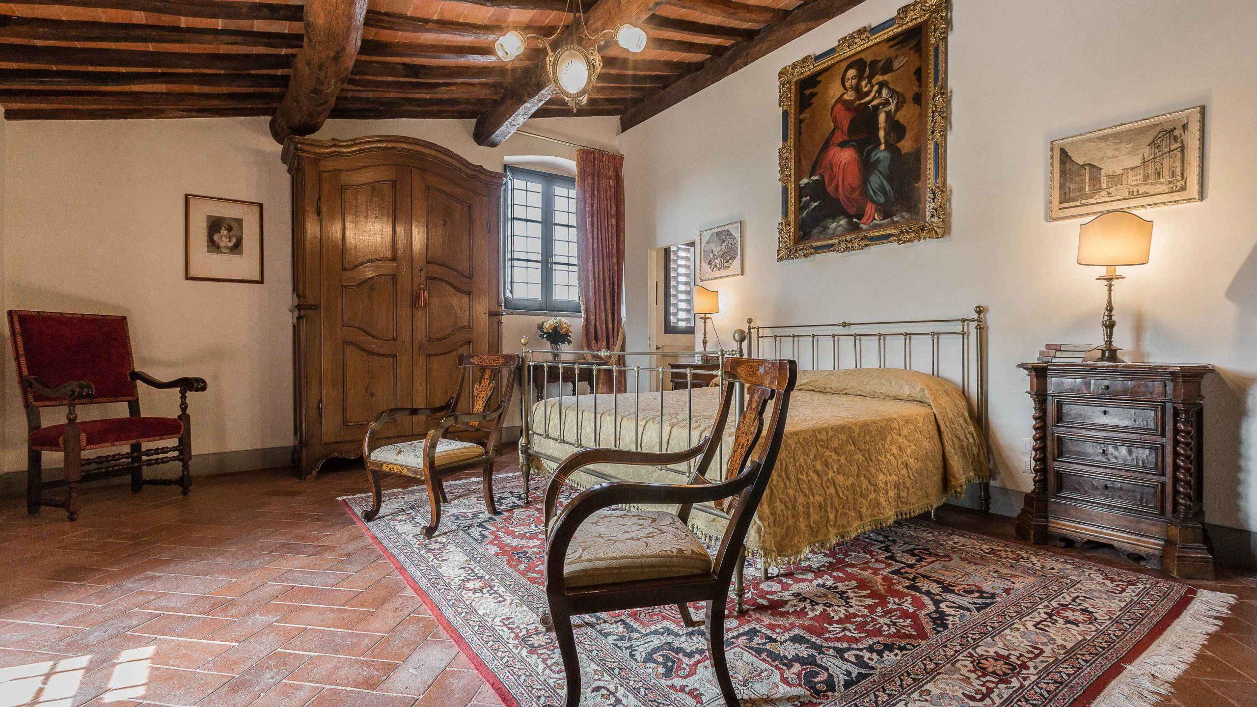 Villa dell' Angelo slaapkamer
