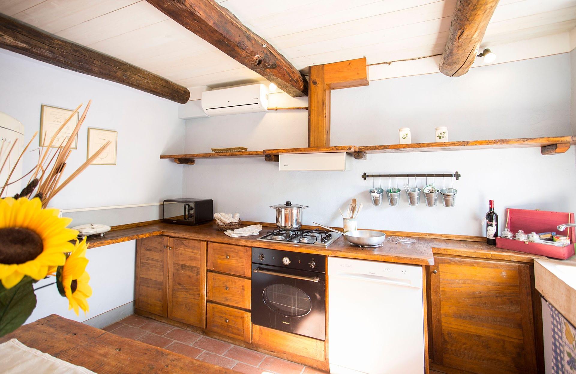 La Casa Rosa 2 keuken