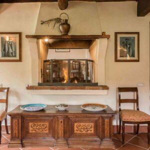 Villa Roncovisi open haard