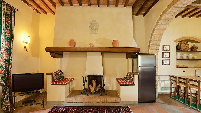 Sole del Chianti Suite La Casetta open haard