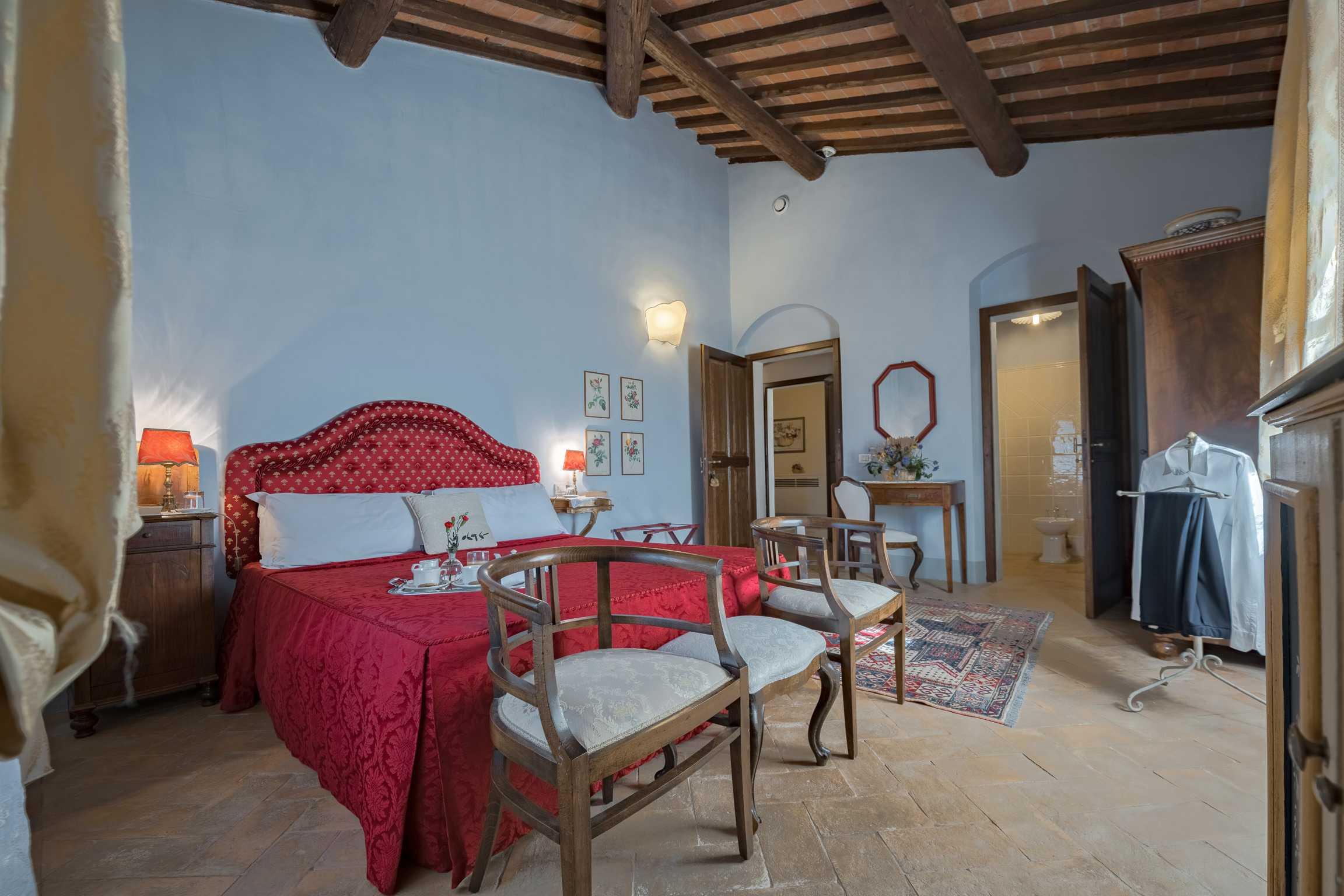 Villa de' Michelangioli slaapkamer